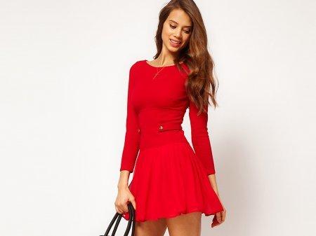 Короткие красные платья