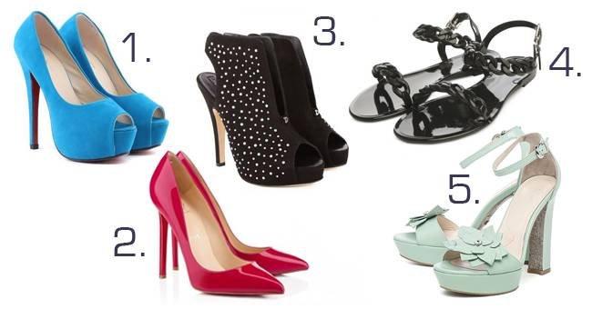 Выберите понравившиеся туфли и узнайте, как проявляется ваша женственность