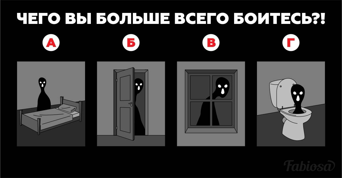 Психологический тест. Чего вы больше всего боитесь?