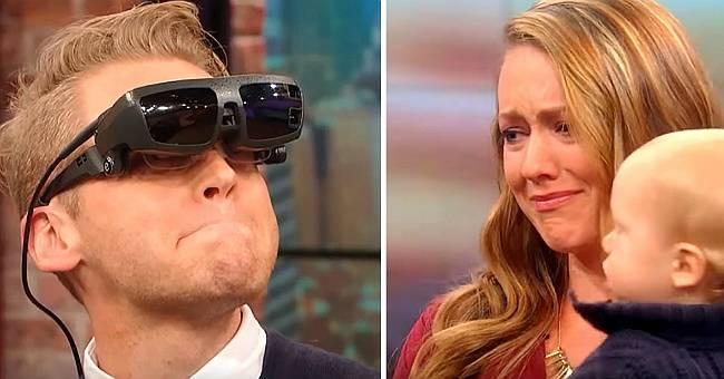 Когда слепой мужчина впервые увидел свою жену и сына, он сказал два слова, которые довели всех до слез!