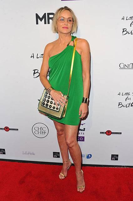 Звездный стиль: 59-летняя Шэрон Стоун посетила вечеринку в ультракоротком платье
