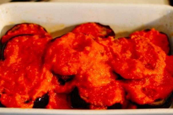 Баклажаны, запеченные в томатном соусеВремя приготовления: 50&8230;