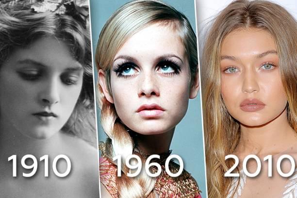 Эволюция макияжа за последние 100 лет: это потрясающе