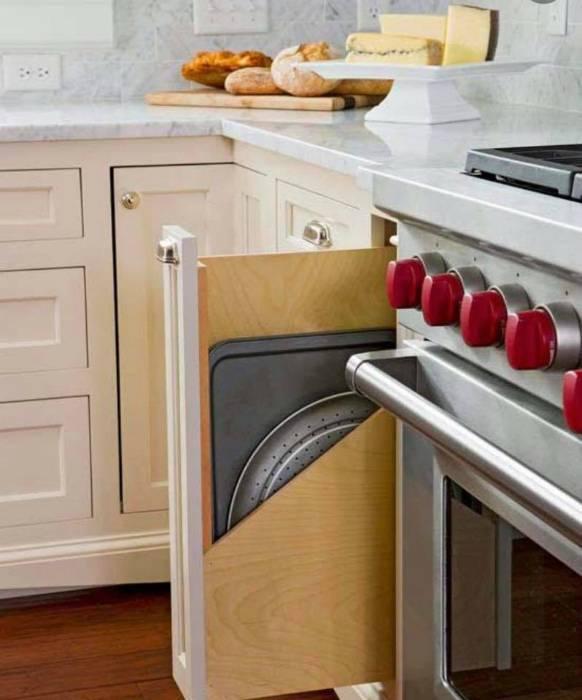 19 оригинальных эргономичных решений, которые помогут существенно расширить возможности маленьких кухонь