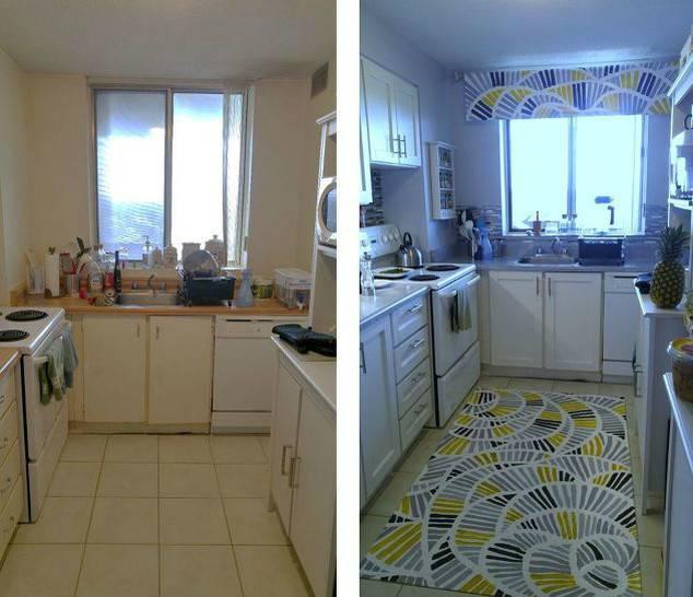 Волшебное преображение кухни в съемной квартире, вы не поверите своим глазам!