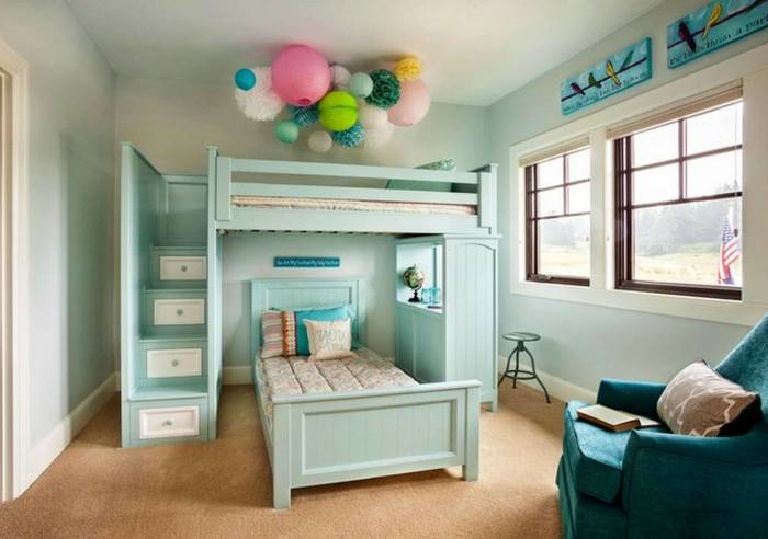 20 гениальных идей для правильного обустройства спальни с двухъярусной кроватью