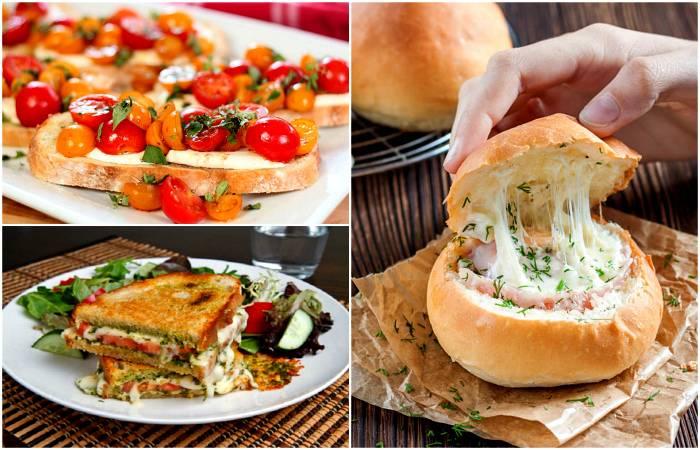 12 нетривиальных рецептов вкуснейших бутербродов для легкого и сытного перекуса на каждый день