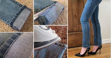Этот трюк поможет вам быстро и легко укоротить джинсы. Получится даже у новичков!