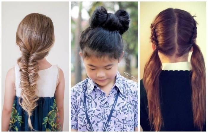 Школа стиля: 10 чудесных причёсок, которые точно понравятся маленьким школьницам и их мамам