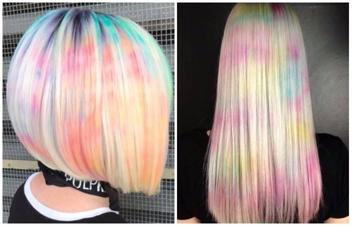 «Мраморные волосы»: самое яркое окрашивание этого сезона, о котором мечтают смелые модницы