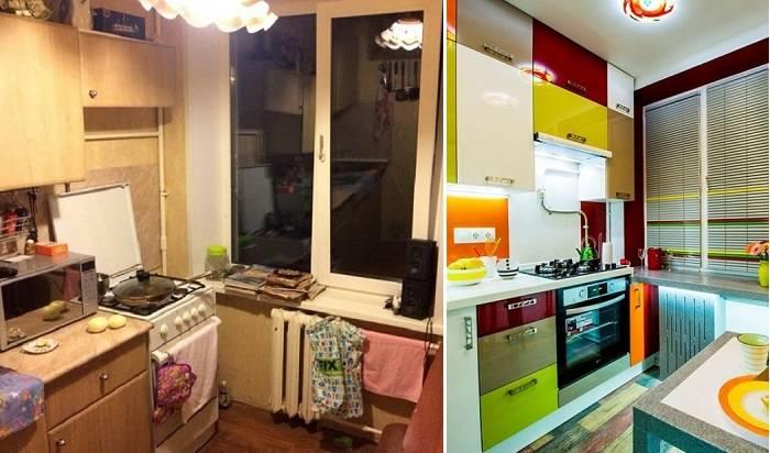 До и после: Блестящее преображение кухни в -хрущевке- площадью всего 6 кв. метров