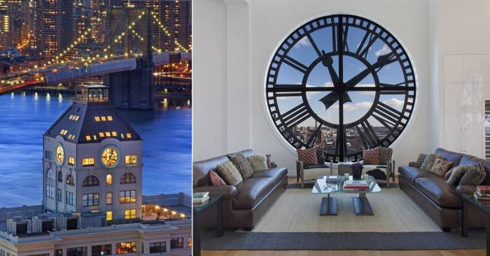 По ту сторону времени: Часовую башню в Бруклине превратили в шикарный пентхаус