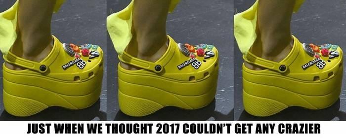 -Кроксы- на платформе: Самая уродливая и модная обувь будущей весны