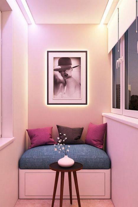 Райский уголок у себя дома: 18 шикарных идей, как преобразить застеклённый балкон