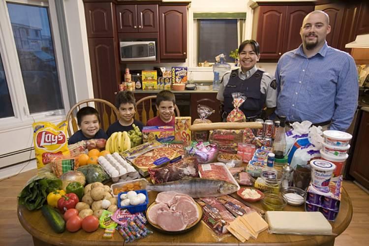 """""""Голодная планета"""": как выглядит недельный рацион обычных семей из разных стран"""