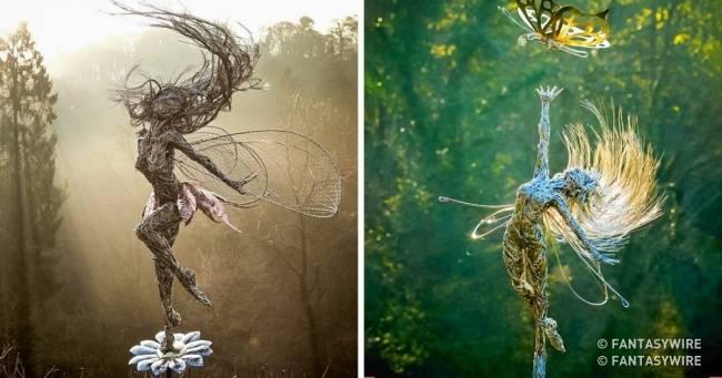 Когда смотришь наэти скульптуры, кажется, что ихсоздатель видел фей своими глазами