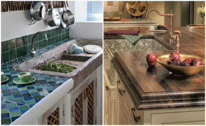 От фанеры до мрамора: 7 популярных материалов для кухонной поверхности