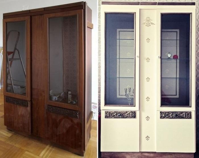 Старые советские шкафы, которые переделали в настоящую -конфетку- (15 фото)