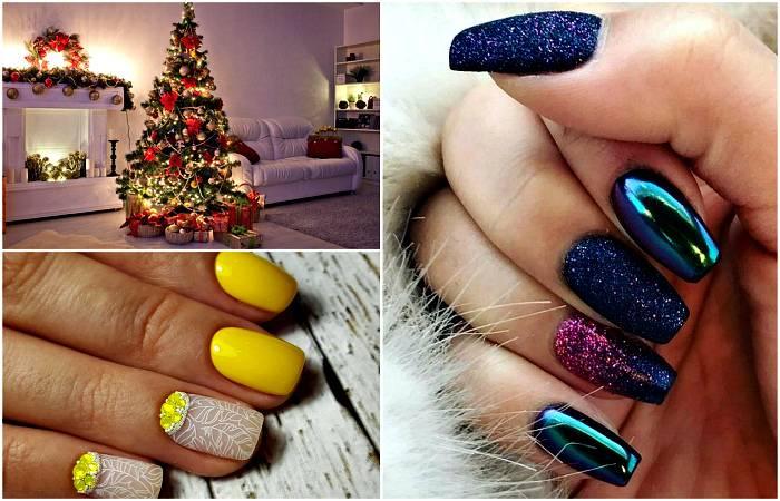 17 идей маникюра для зимних праздников и встречи Нового Года