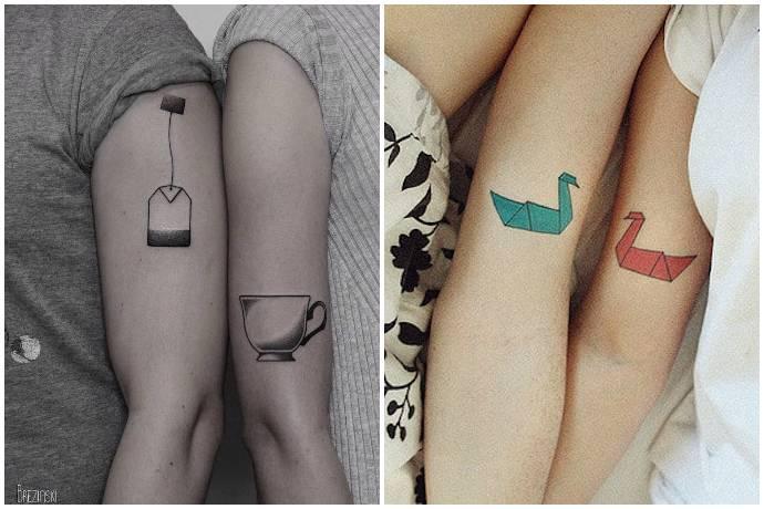 20 самых романтичных татуировок для пар
