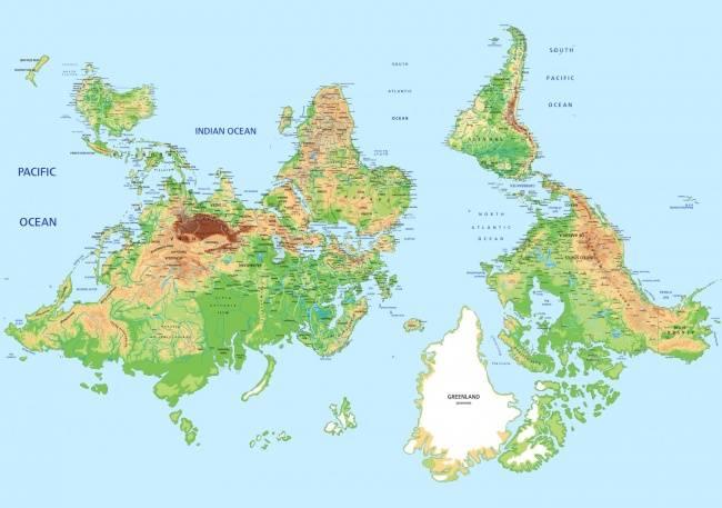 Оказалось, что школьников всех стран учат поразным картам мира
