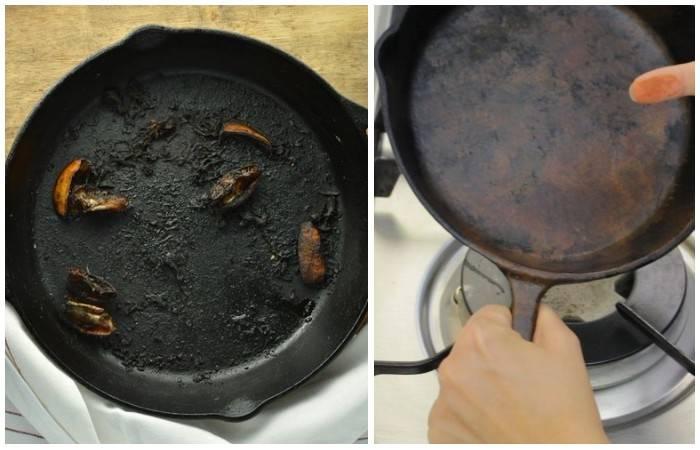 Как очистить сковороду от пригоревшего жира быстро и без царапин средством, которое точно есть на кухне у каждого