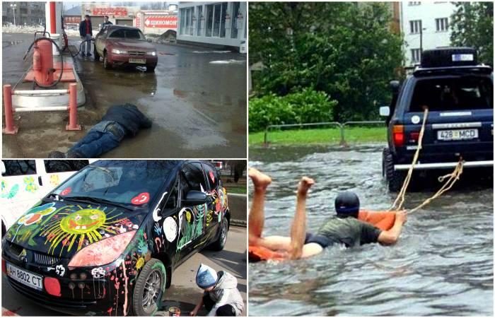 17 забористых и разудалых фотографий из повседневной жизни автомобилистов