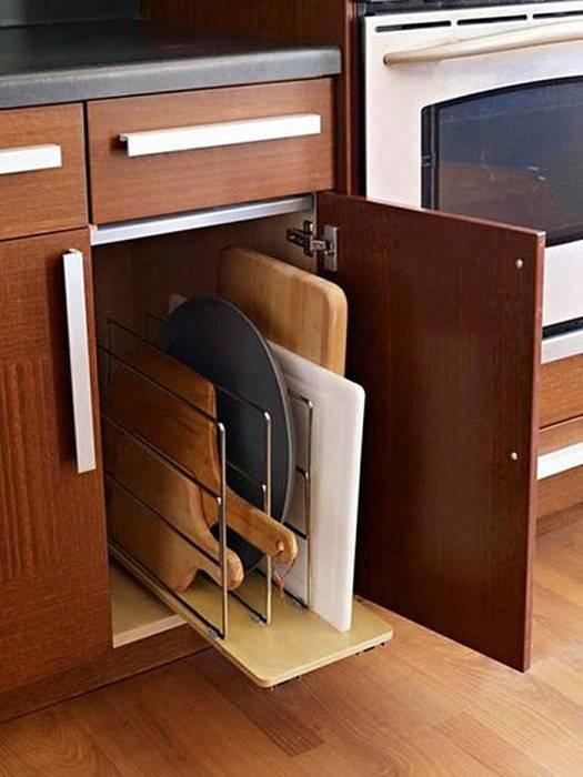 16 практичных идей хранения кухонной утвари, чтобы она не мозолила глаза