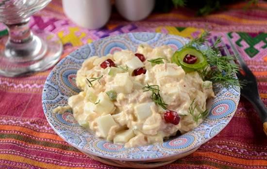 Салат с тунцом: полезная высокобелковая закуска. Пошаговый рецепт авторский фото-рецепт  острого салата с тунцом , яйцами, сыром
