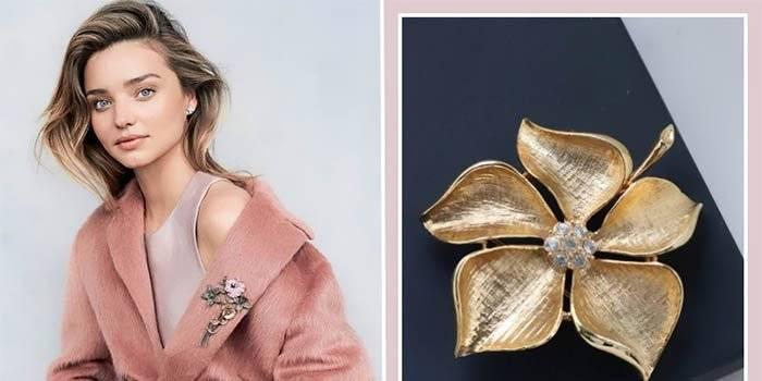 Фишка модного сезона — брошь. Как ее носить правильно