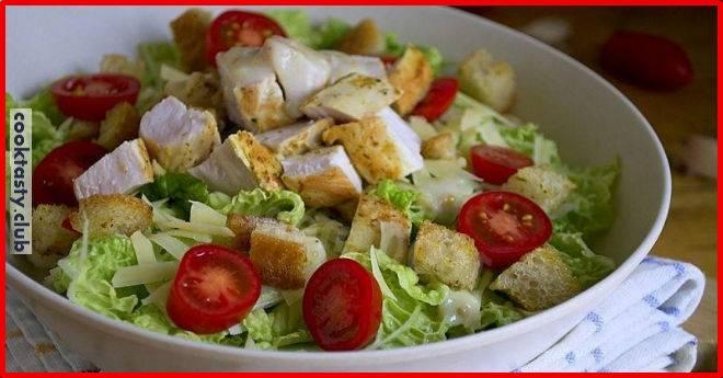 ТОП-5 рецептов салата «Цезарь»
