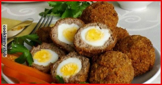 Яйца в фарше по — шотландски