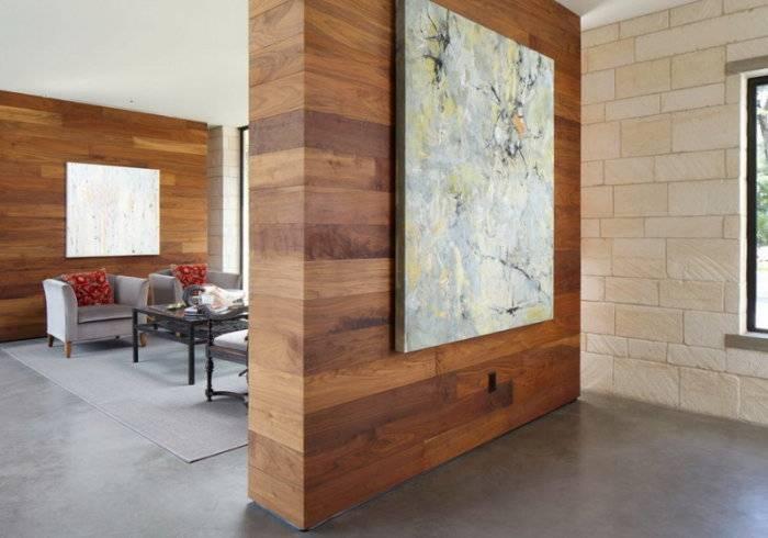 Ламинат в интерьере, или Смелое решение оформления стен