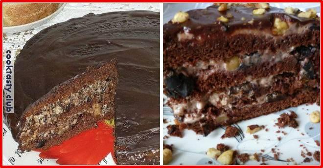 Домашний торт &171;Чернослив в шоколаде&187;