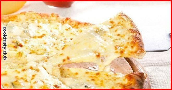 Пицца с творогом без теста