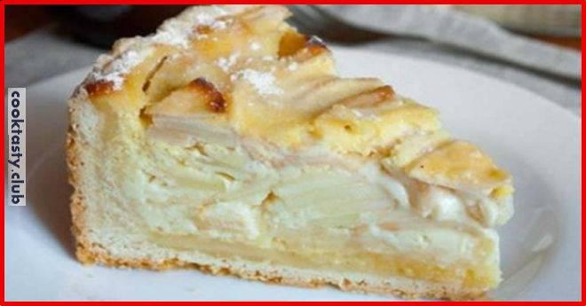 Нежный пирог с яблочной начинкой