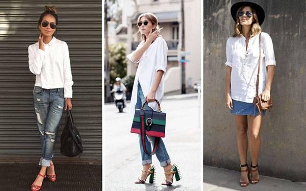 Как носить белую рубашку летом: стильные примеры 2018
