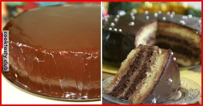 Нежный торт с кофейным кремом