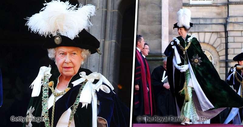 Похороны отменяются: королева Елизавета II вместе с внуком и дочкой посетили службу и удивили всех своими нарядами