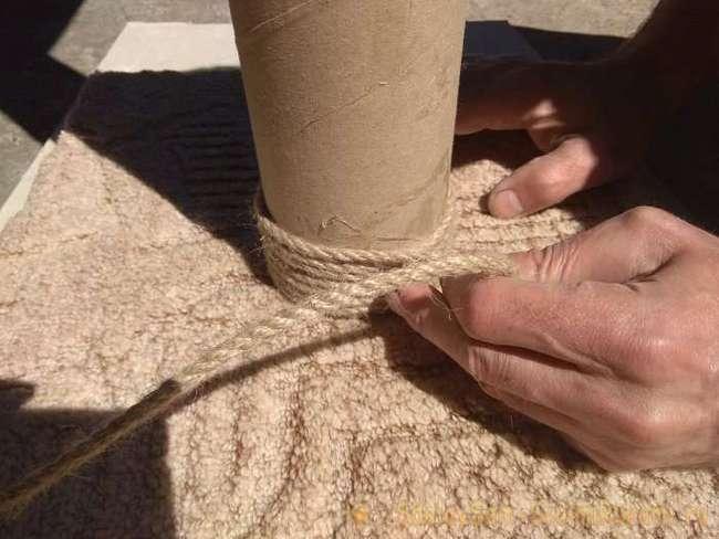 Изготовление когтеточки своими руками