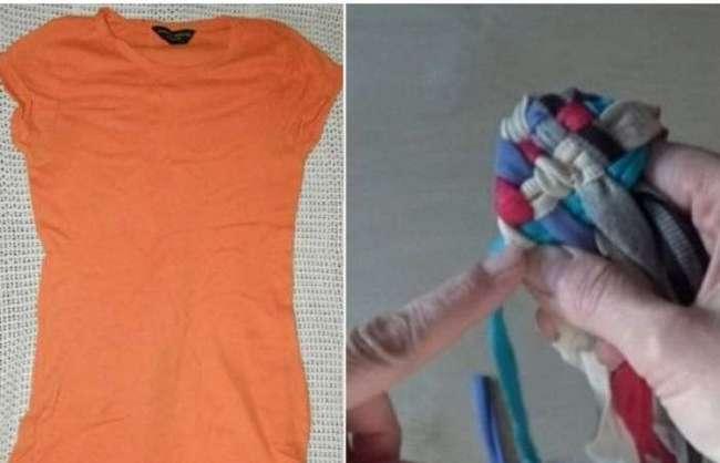 Почему не нужно выбрасывать старую футболку, а лучше сделать вещь, необходимую в каждой ванной