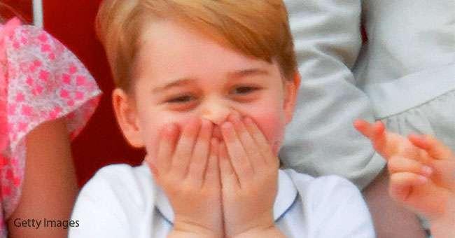 Поклонники без ума от фото, на котором улыбающийся принц Джордж — копия своей бабушки принцессы Дианы