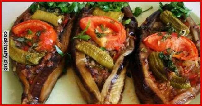 Баклажаны запеченные в духовке с мясом по-турецки