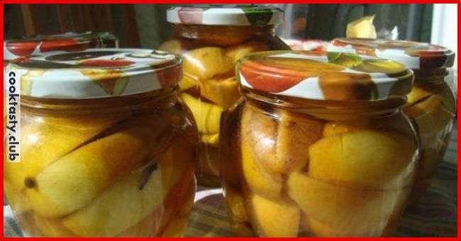Яблочные дольки в ароматном сиропе