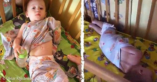 Связанные по рукам и ногам: бывший работник российского детского сада поделилась шокирующими снимками детей