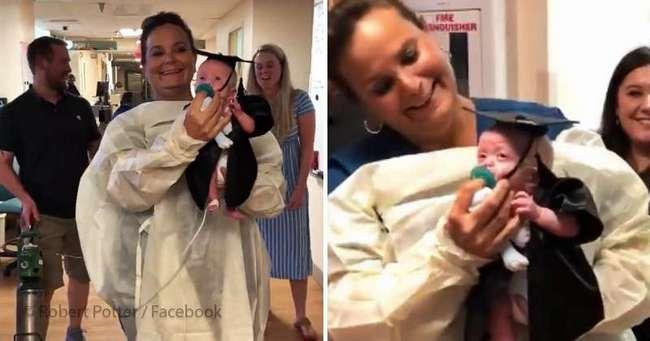 """Врачам удалось спасти ребенка, родившегося на 22 неделе. Видео с его """"выпускного"""" облетело весь Интернет"""