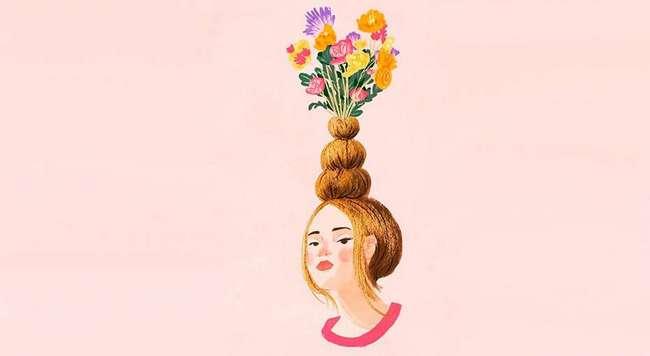 Укладка в стиле «ваза для цветов»