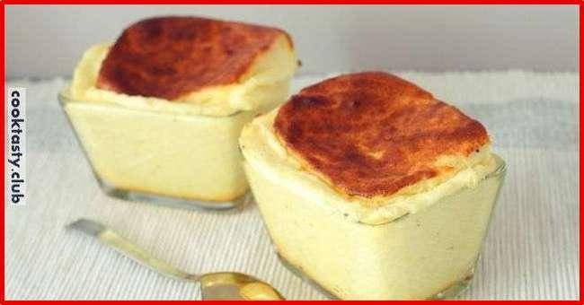 Нежное сырное суфле