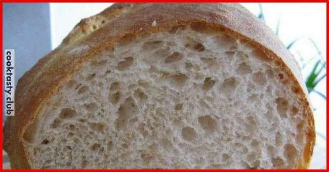 Хрустящий и вкусный хлеб без замеса