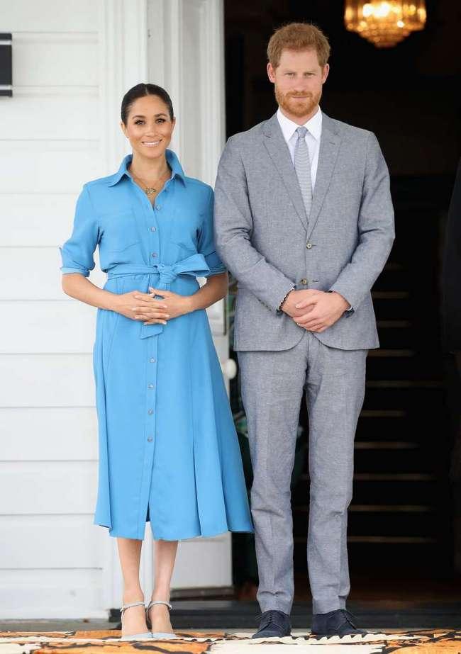 Еще один намек на пол малыша? Новое платье беременной Меган Маркл ей очень к лицу